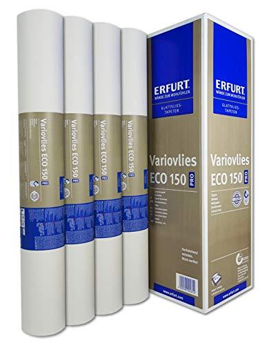 Set 20 Rollen Erfurt Variovlies Eco 150 Ecovlies 375m² Glattvlies Renoviervlies überstreichbare Vliestapete