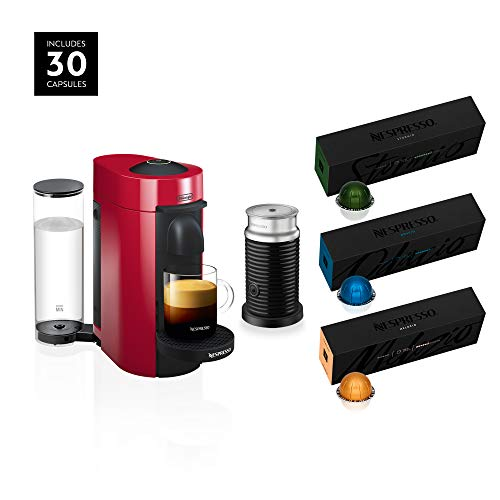 Nespresso VertuoPlus Coffee and Espresso Machine Bundle by De