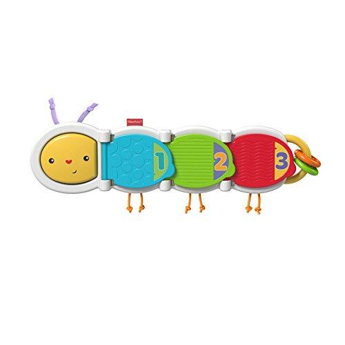 Fisher-Price La Chenille des Surprises jouet bébé avec 3 animaux cachés derrière les portes et différentes textures, 6 mois et plus, DHW14
