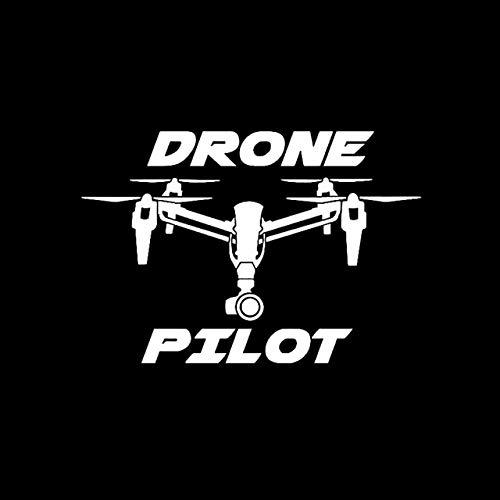 Mrzy 14.5CM * 10CM DROHNE Pilot UAV-Auto-Aufkleber Vinyl Aufkleber Schwarz/Silber (Color Name : Silver)