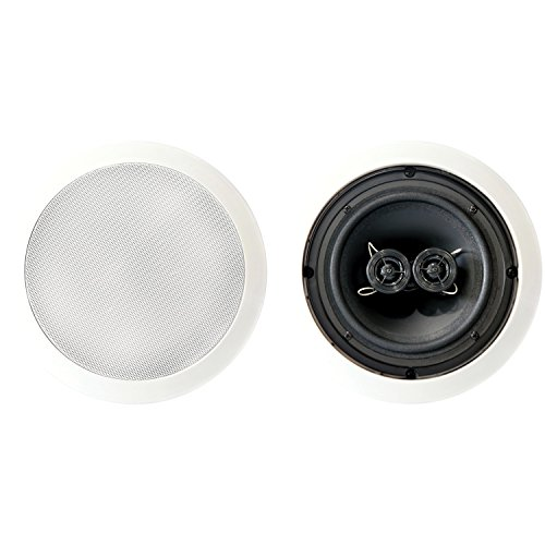 "BIC America MSR6D 100-Watt 6.5"" Dual Voice-Coil Stereo in-Ceiling Speaker"