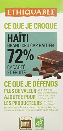 bon comparatif Haïti Label Chocolat Noir 72% Cacao Biologique 100g, Commerce Équitable, Producteur Agricole un avis de 2021