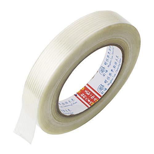 GTIWUNG 1 Stück Filament Verstärktes, 20mm x 50m Filament-Klebeband Glasfaserverstärkt Packband, Filamentband Filament Klebeband Fadenverstärkt, Filament Umreifungsband