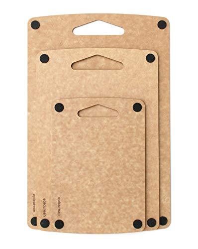 Prep Series Nonslip Cutting Boards by Epicurean, 3 Piece, Natural
