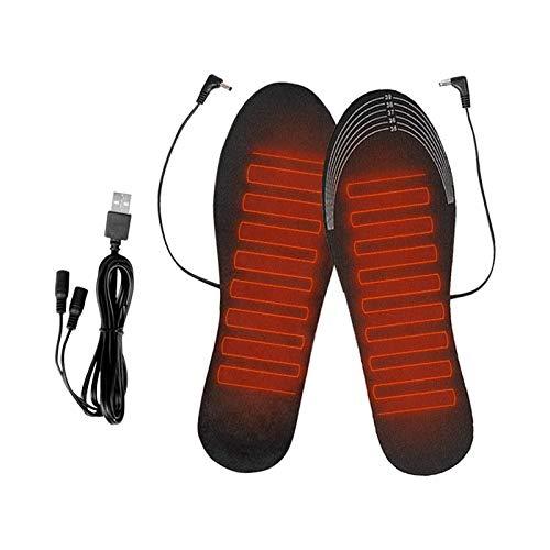 Almencla Plantillas térmicas para Zapatos Calentadores de pies de Invierno Estera Plantillas térmicas USB Plantillas térmicas...