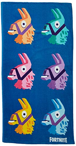 Strandtuch Beach Towel BLAU 8 Llamas Llama 70x140cm BATH Original New kompatibel mit Fortnite