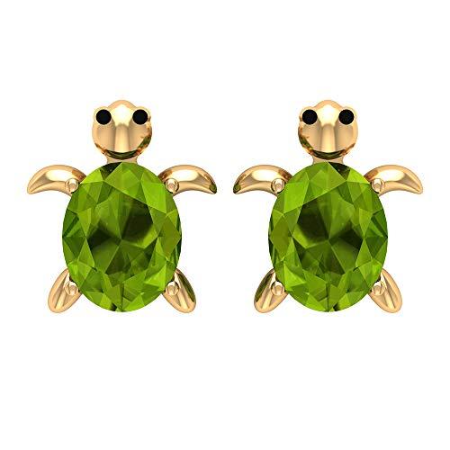 Rosec Jewels 10k Oro amarillo ovalada verde Peridot
