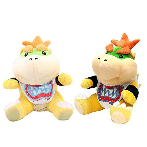 Juego Super Mario Bowser Koopa Bowser Jr Juguetes De Peluche De 18Cm, Muñeco De Peluche De Dragón De Fuego, Regalos para Niños