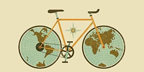 N / A Fahrrad Rad Poster und Print Wandkunst Leinwand Malerei Wohnzimmer Dekoration Abstrakte dekorative Malerei Rahmenlos 70x140cm