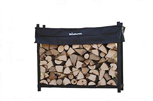 Best Bargain The Woodhaven 5 Foot Firewood Log Rack with Cover