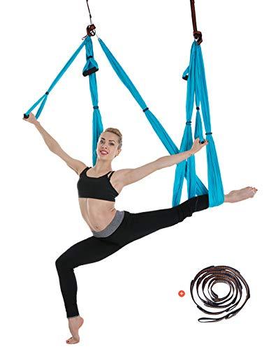 besbomig 6 Yard Dekompression Hängematte Yoga Körper Formen Anti Schwerkraft Inversion Übungen - Yoga Fliegende Schaukel Innen Sport