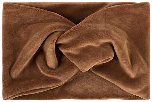 styleBREAKER Fascia per Capelli da Donna in Look di Velluto con Nodo e Fascia Elastica Fascia per la Testa 04026040, Colore:Cognac