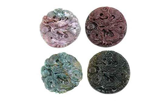 1001Kristall Drachen-Amulett mit 1mm Bohrung, 50mm, Achat