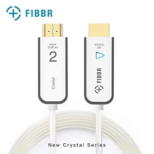 FIBBR HDMI 2.0 ケーブル 4k 60HZ Ultra HD -光ファイバー HDMI ケーブル サポート18Gbps 高速 HDR Hdcp 2.2 HDTV Xbox ブルーレイ プレーヤー PS4 PS4Pro PC 用 2m