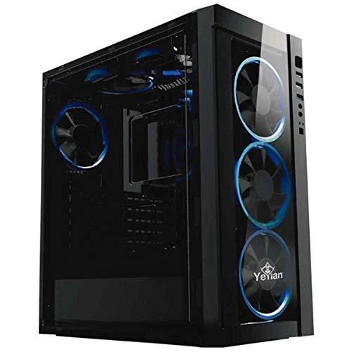 Yeyian Blade 2100 Escritorio Negro - Caja de Ordenador Gaming (Escritorio, PC, SPCC, Negro, ATX,Micro ATX, Azul)