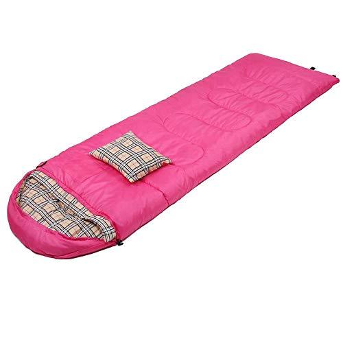 FKB@ED Schlafsack für Paare, Winter- und Herbstschlafsäcke für Camping, Umschlagschlafsäcke mit Kompressionssack zum Wandern im Rucksack/Rosa / 2KG