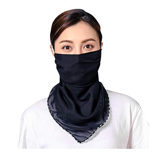 riou Damen Bandana Halstuch Mundschutz Multifunktionstuch UV-Schutz Atmungsakti Sommer Chiffon Tuch Schlauchtuch
