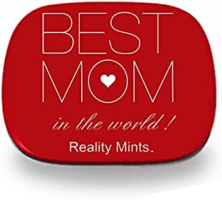 Best Mom in The World Mints – Thoughtful Gift for Mothers - Gifts for Moms Stocking Stuffers for Mothers Sweet Novelty Gifts for Women Chocolate Breath Mints Valentines Gifts for Mother's Day