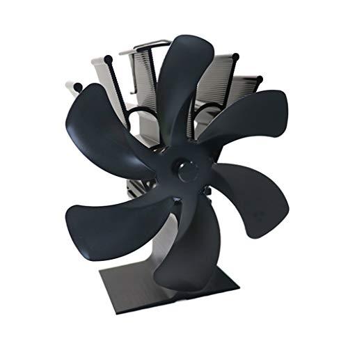 Herdventilator Ofenventilator - Heat Powered Stove Fan - 6 Flügel Wärmebetriebener Herdventilator für Holzholzbrenner Heizung Kamin Kraftstoff sparen Leise Ecofan Effizient