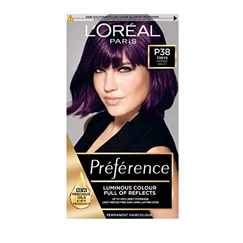 L'Oreal Preference Permanent Hair Dye, P38 Violet Vendetta Purple