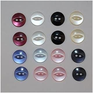 A* 40 x Boutons Basique Etoile 2 Trous Diamètre 11mm ou 14mm Mercerie Couture