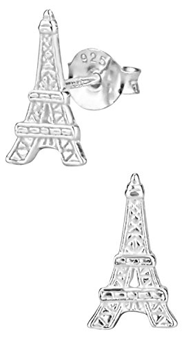 Hypoallergenic Sterling Silver Eiffel Tower Stud Earrings for Kids (Nickel Free)