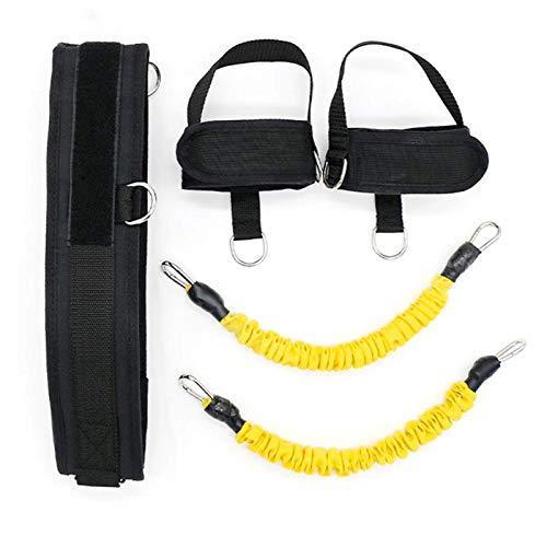 Freyla Equipo de Entrenamiento de Rebote de Baloncesto de látex rebotante Cuerda de tracción de Fuerza Muscular de Pierna para Moldeador de Cuerpo de Fitness(Amarillo)