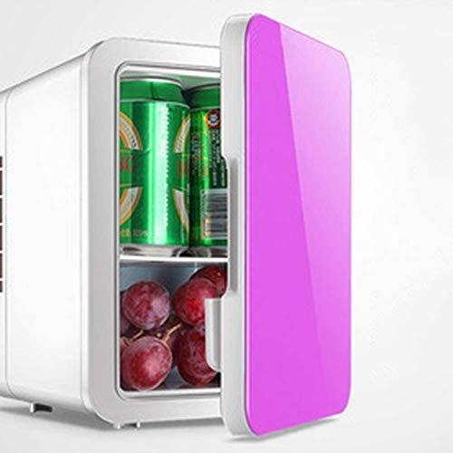 WUAZ 4L Kleines Auto Kühlschrank, Mini-Kühlschrank Auto-Haus Dual-Use Studentenwohnheim Kosmetische Maske kalte und warme Box, Kühler & wärmer,Rosa