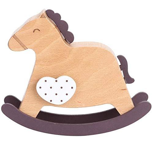 Mryishao SpieluhrMusik-Boxen Rocking Pferd Form Musik Box natürliche Buche Holz Musical Box Handwerk Geburtstagsgeschenk für