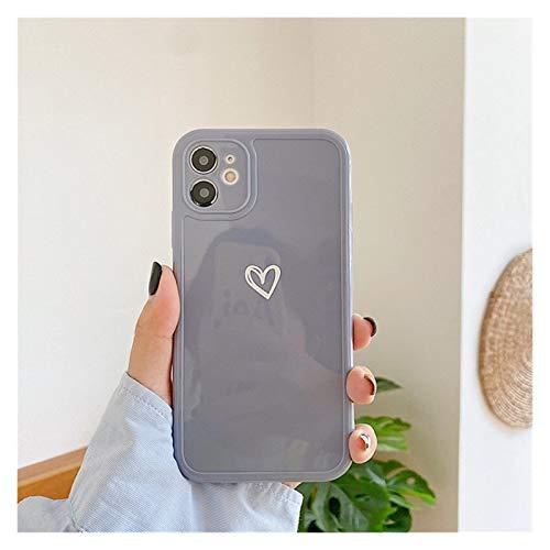 YLFC Funda De Teléfono con Protección De Cámara para iPhone, Funda Trasera De TPU Suave Y Brillante para iPhone 11 12 Pro SE 2020 7 8 Plus X XR XS MAX, Color Caramelo