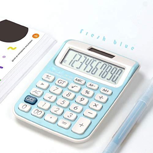 Rekenmachine voor geld en economie, wetenschappelijke rekenmachine, trompet, mini-rekenmachine, kleine rekenmachine, meisjes, leuke roze, studentenrekenmachine, kantoorbenodigdheden, zonne-energie