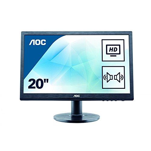 AOC M2060SWDA2 49,5 cm (19,5 Zoll) MVA-Monitor (VGA, DVI, 1920 x 1080, 60 Hz) schwarz