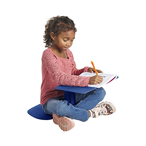ECR4Kids - ELR-15810-NV The Surf Portable Lap Desk, Flexible Seating for Homeschool and Classrooms, One-Piece Writing Table for Kids, Teens and Adults, GREENGUARD [Gold] Certified, Navy