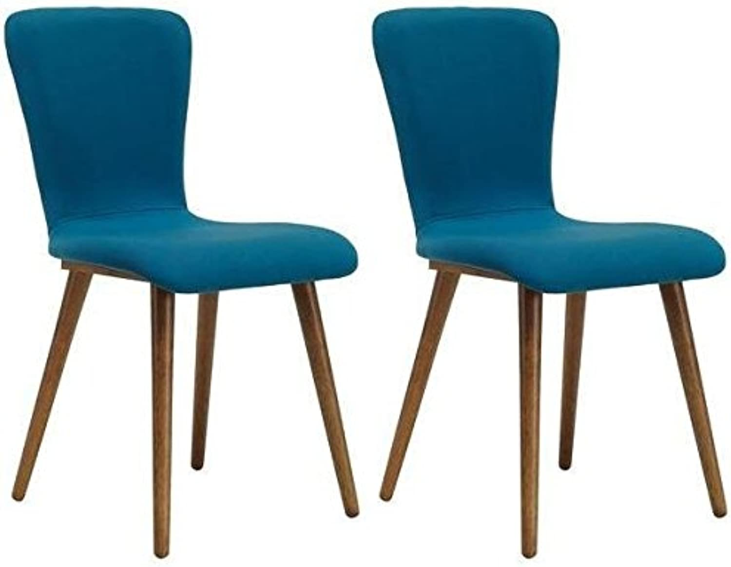 Set of 2 - Valley Dining Chair - Cocoa + Teal