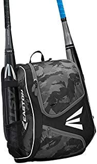 EASTON E110YBP Youth Bat & Equipment Backpack Bag   Baseball Softball   2020   2 Bat Sleeves   Smart Gear Storage   Valuables Pocket   Rubberized Zipper Pulls & Fence Hook for Dugout Functionality