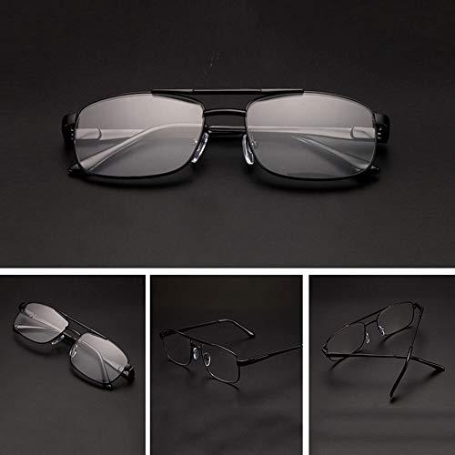 Leesbril LDFZ leesbril van metaal, leesbril voor mannen en vrouwen, transparante lenzen HD, goudkleurig, zwart