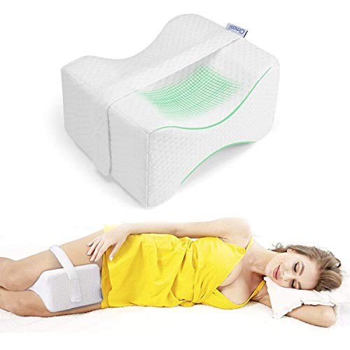Almohada Piernas para Dormir, Ergonómico Cojín Ortopédico, Ideal para ciática, caderas,...