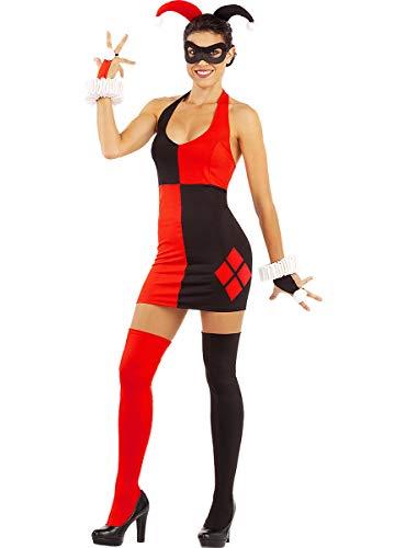 Funidelia   Vestido de Harley Quinn Oficial para Mujer Talla XL ▶ Superhéroes, DC Comics, Suicide Squad, Villanos - Color: Negro - Licencia: 100% Oficial