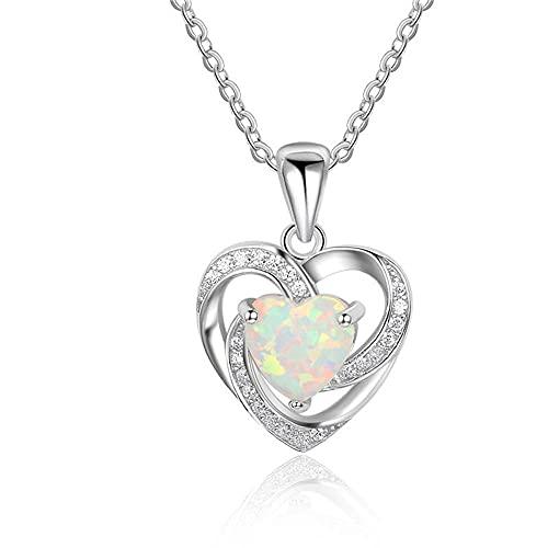 Collar Europa y Estados Unidos Australia Parque Colgante Amor Diamante Personalidad Chica salvaje Colgante Collar 3 colores
