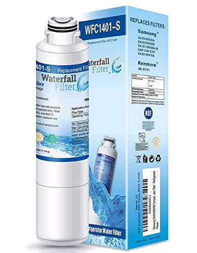 Waterfall Filter - Refrigerator Water Filter Comptaible with Samsung DA29-00020B , DA29-00020A, HAF-CIN/EXP, HAF-CIN, DA97-08006A, Kenmore 469101, RF28HMEDBSR, RF4287HARS