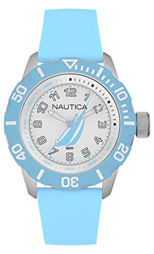 Nautica Herren Analog Quarz Uhr mit Gummi Armband NAI08515G