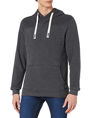 TOM TAILOR Herren 1023457 Basic Hoodie Sweatshirt, 11086-Dark Grey Melangé, 3XL