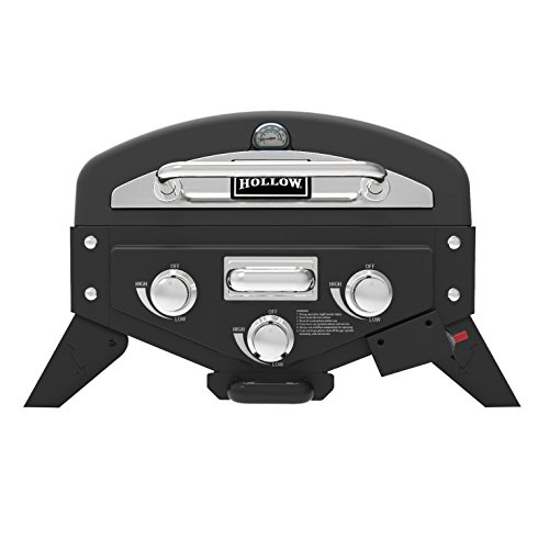 Masterbuilt VT280SS1 3 Vector Series Two-Burner Portable Gas Grill with Folding Side, Stainless