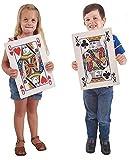 Prextex.com Cartes à Jouer Jumbo Enorme Table complète de Poker Index Cartes à Jouer Amusant pour Tous Les âges ! - Taille 26,7 x 36,8 cm