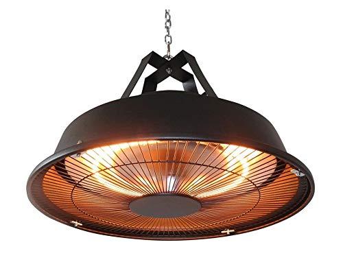 MaxxGarden - Parasol chauffant de terrasse suspendu - radiateur infrarouge - couleur noir - 1500 W