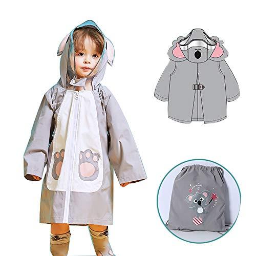 Veste Enfants Pluie - Enfants Raincoat Poncho for Filles garçons Pluie Dinosaur Manteau de Veste de Costume Jaune Outwear for Les Enfants en Bas âge (Color : Gray, Size : L)