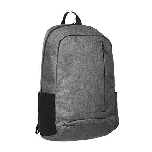 Amazon Basics - Mochila de uso diario para portátiles de hasta 38 cm, gris