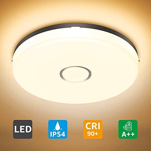Olafus Lámpara de Techo, Luz de Techo Baño LED Luz Blanca