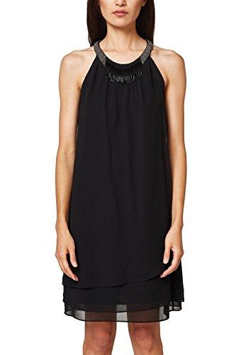 ESPRIT Collection Damen 048EO1E035 Kleid, 001/BLACK, 38