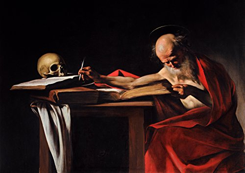 Michelangelo Merisi da Caravaggio: Saint Jerome Writing. Fine Art Print/Poster. Size A4 (29.7cm x 21cm)
